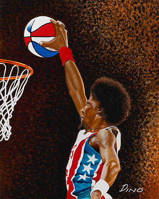 Julius Erving Painting - Julius by Dino Murphy