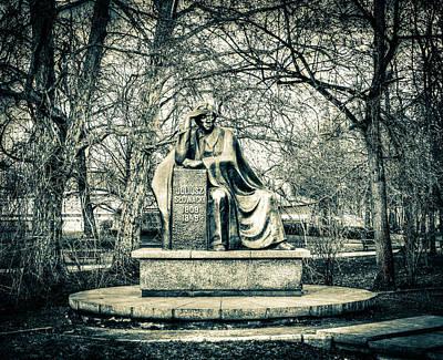 Photograph - Juliusz Slowacki Monument B In Wroclaw Poland by Jacek Wojnarowski