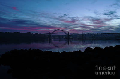 Photograph - July 4 2017 Sunrise Over Yaquina Harbor Newport Oregon by Along The Trail