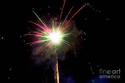Heart Of Gold Photograph - July 4 Bbq Fireworks In Cuenca II by Al Bourassa