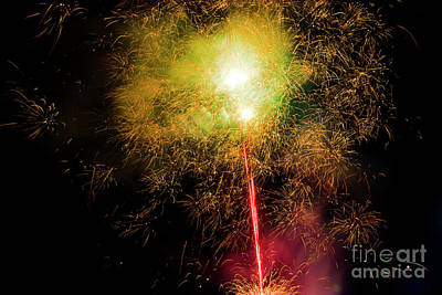 Heart Of Gold Photograph - July 4 Bbq Fireworks In Cuenca IIi by Al Bourassa