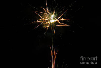Heart Of Gold Photograph - July 4 Bbq Fireworks In Cuenca Iv by Al Bourassa