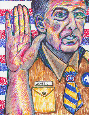 Loyality Painting - July 8 James Comey- by Susan Brown    Slizys art signature name