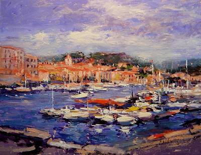 July In Cassis France Original by R W Goetting
