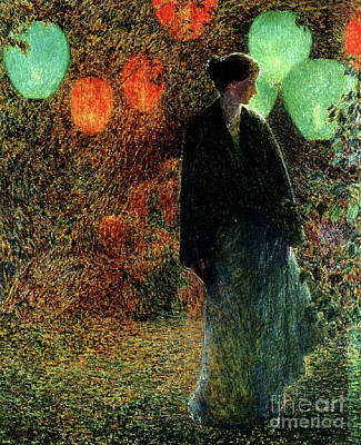 A Summer Evening Painting - July Night by Childe Hassam