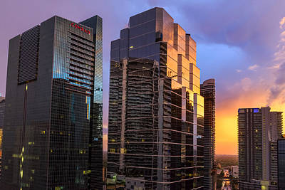 Photograph - July Sunset Over Miami by Lynn Palmer