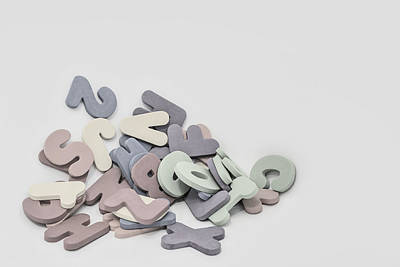 Shape Photograph - Jumbled Letters by Scott Norris