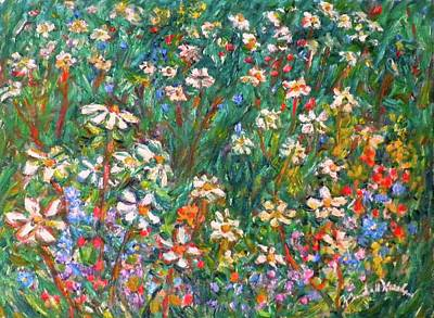 Wildflowers Painting - Jumbled Up Wildflowers by Kendall Kessler
