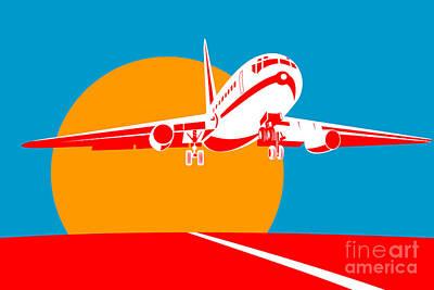 Transportation Digital Art Royalty Free Images - Jumbo Jet  Royalty-Free Image by Aloysius Patrimonio