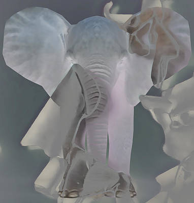 Mixed Media - Did Anyone See My Elephant by Marvin Blaine