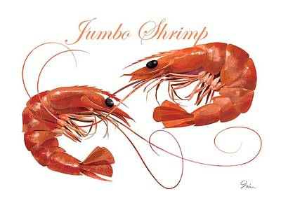 Nautilus Digital Art - Jumbo Shrimp by Trevor Irvin