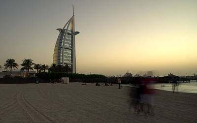 Photograph - Jumeira Beach And Burj Al Arab Hotel Dubai by Alexandre Rotenberg