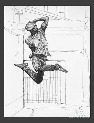 Drawing - Jump by Jessica Browne-White