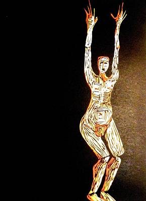 Linoleum Mixed Media - Jump by Patricia Bigelow