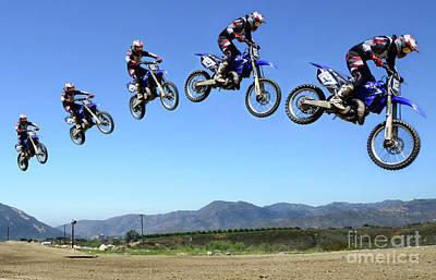 Motocross Photograph - Jump Start by Bob Christopher