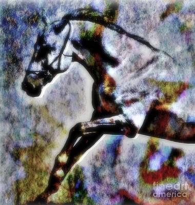 Horse Lover Pastels Painting - Jump by Wbk