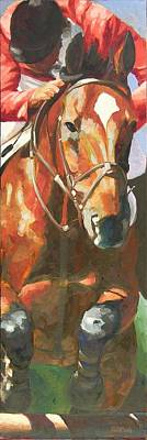 Sports Paintings - Jumper by Mary McInnis