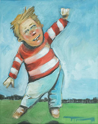 Painting - Jumping Boy by Tim Nyberg