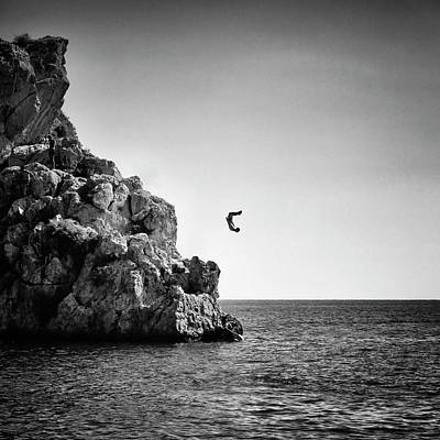 Jumping Art Print by Guido Montanes Castillo