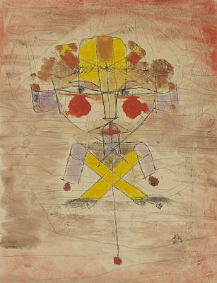 Swiss Drawing - Jumping Jack by Paul Klee