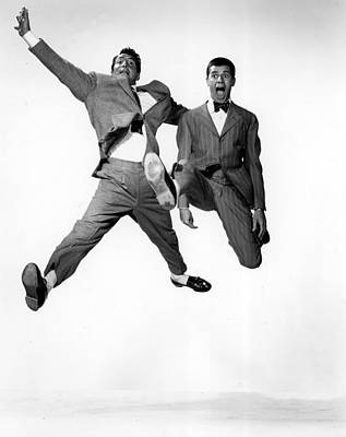 Jumping Jacks, Dean Martin, Jerry Art Print