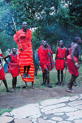 Moody Trees - Jumping Masai by Marc Levine