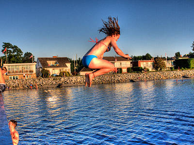 Photograph - Jumping Off by Lawrence Christopher