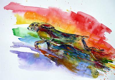 Painting - Jumping Over The Rainbow by Zaira Dzhaubaeva