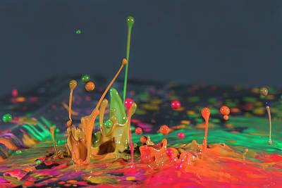 Photograph - Explosive Paint by Vanessa Valdes