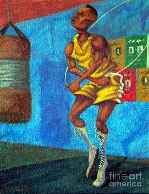 Painting - Jumpropeworkout by Clifford Etienne