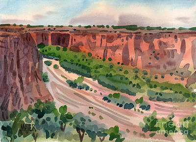Canyon Painting - Junction Canyon De Chelly by Donald Maier