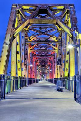 Photograph - Junction Pedestrian Bridge by JC Findley