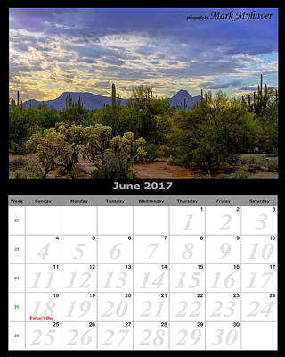 Photograph - June 2017 Calendar by Mark Myhaver