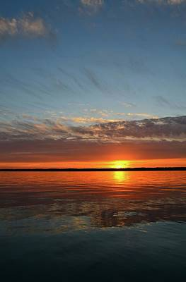 Photograph - June 8-2017 Sunset At Kempenfelt Bay  by Lyle Crump