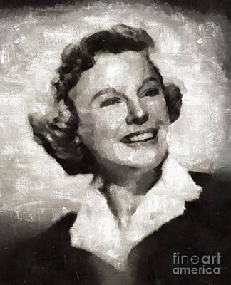 Elvis Presley Painting - June Allyson, Actress by Mary Bassett