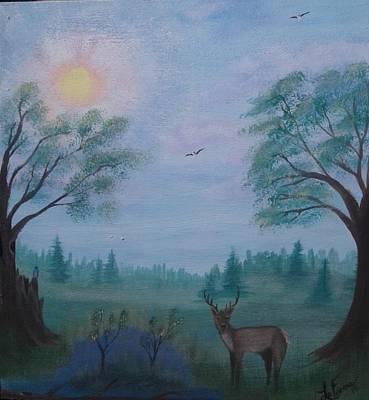Bob Ross Style Painting - June Buck by Lori Lafevers