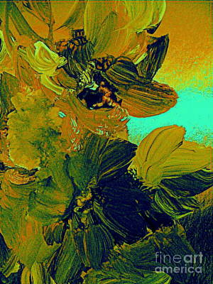 Painting - June Bugs And Flowers 2 by Nancy Kane Chapman