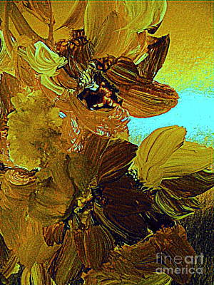 Painting - June Bugs And Flowers by Nancy Kane Chapman