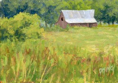 Old Barns Painting - June Field by David King