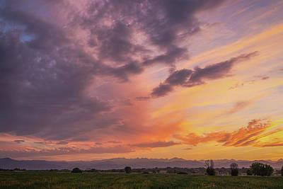 Photograph - June Front Range Sunset  by James BO Insogna
