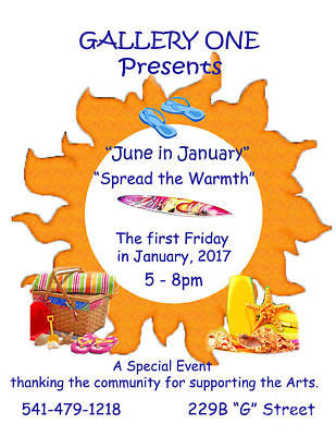 Photograph - June In January Flyer by Marie Neder