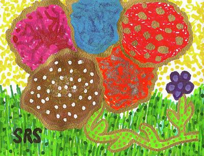 Drawing - June Is Bloomin' by Susan Schanerman
