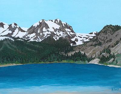 Painting - June Lake California by Katherine Young-Beck