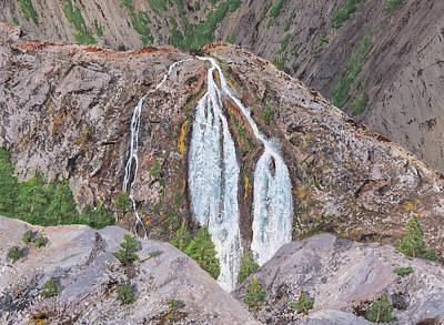 Painting - June Lake Loop Falls by L J Oakes