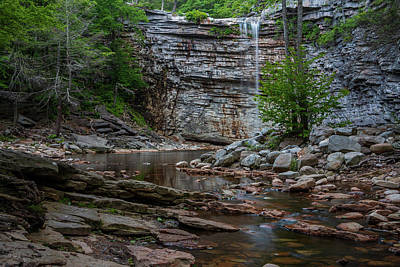 Photograph - June Morning At Awosting Falls by Jeff Severson