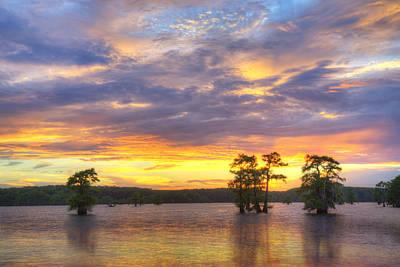 June Sunset At Caddo Lake 3 Art Print by Rob Greebon