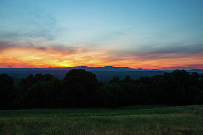 Photograph - June Sunset Over The Catskills by Jeff Severson