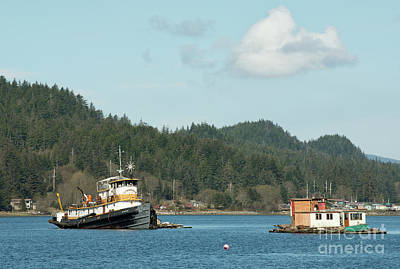 Photograph - Juneau Boat House And Fishing Boat by Loriannah Hespe
