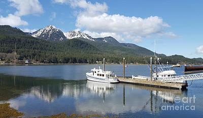 Photograph - Juneau Harbor Reflection by Loriannah Hespe