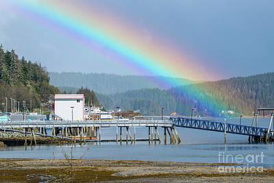 Photograph - Juneau Rainbow by Loriannah Hespe